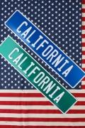 カリフォルニア看板 ストリート看板 アメリカ標識 CAL看板 アメリカ雑貨屋 サンブリッヂ