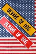 犬注意看板 犬小屋看板 所さん犬看板 ストリート看板 アメリカ標識 アメリカ雑貨屋 サンブリッヂ