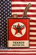 テキサコオイル缶サイン エンボスブリキ看板 アメリカ雑貨屋 サンブリッヂ