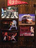 ビンテージブリキ看板 立体的 エルビス ビートルズ ワーゲンバス キャデラック A4サイズ アメリカ雑貨屋 サンブリッヂ