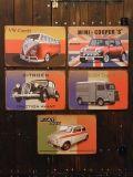 ビンテージブリキ看板 クラシックカー ワーゲン ミニクーパー シトロエン フィアト A4サイズ アメリカ雑貨屋 サンブリッヂ