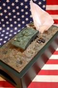 戦車ティッシュケース 面白ティッシュケース ミリタリーティッシュカバー アメリカ雑貨通販 サンブッヂ 岩手雑貨 通販商品
