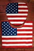 アメリカトイレカバー 星条旗トイレマット アメリカントイレ雑貨 アメリカ雑貨屋 サンブリッヂ