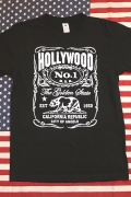 アメリカTシャツ HOLLYWOOD カリフォルニアベア CALIFORNIA アメリカ雑貨屋 サンブリッヂ 岩手雑貨