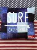 アメリカ風景クッション カリフォルニアクッション サーフボードクッション アメリカ雑貨屋 サンブリッヂ 通販