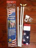 星条旗ポール付き アメリカ国旗ポールセット アメリカ雑貨屋 SUNBRIDGE 国旗通販