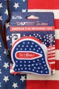 アメリカメジャー 星条旗メジャー 巻尺 アメリカ工具 DIY アメリカンガレージ アメリカ雑貨屋 SUNBRIDGE
