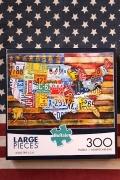 アメリカパズル アメリカナンバープレートパズル アメリカ本土パズル アメリカ雑貨屋 サンブリッヂ 通販
