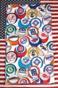 USEDシーツアメリカンベースボール アメリカン生地  野球グッズ ジャーズ メッツ アメリカ雑貨屋 サンブリッヂ 通販