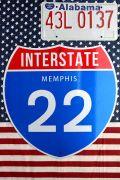 ハイウェイ看板 道路標識 メンフィス看板 米国交通局公認 Memphis アメリカ雑貨通販 サンブリッヂ