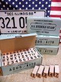 ステンシルスタンプセット ステンシルプレート ステンシルシート ミリタリー文字 スタンプ アメリカ雑貨屋 サンブリッヂ