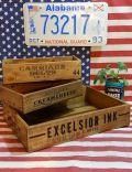 木箱 男前インテリア ウッドボックス ビンテージ木箱 アンティーク木箱 アメリカ雑貨屋 サンブリッヂ