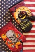 アメリカハロウィングッズ スカル鍋つかみ パンプキンおばけミトン アメリカ雑貨屋 サンブリッヂ 通販