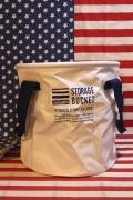 ターポリンバケツ 13Lバケツ コンパクト収納 WASHERS ホワイト アメリカ雑貨屋 サンブリッヂ