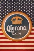 コロナ看板 王冠エンボスサイン Corona スチール看板 アメリカ雑貨屋 サンブリッヂ アメリカ看板通販