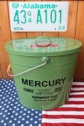 マーキュリーフタ付きバケツ オーバルバケツ カーキ MERCURYアメリカ雑貨通販 サンブリッヂ