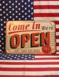 オープン看板 アメリカンサインボード OPEN 看板 アメリカ雑貨屋 サンブリッヂ アメリカン通販