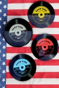 レコードコースター 80'sレコード レコード コースター アメリカ雑貨屋 サンブリッヂ アメリカン雑貨通販