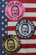 TREJO'SCOFFE&DONUTS ダニー・トレステッカー ドーナツステッカー アメリカ雑貨屋 サンブリッヂ 通販