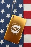 UPSタグキーホルダー キーチェーン タグ UPSグッズ通販 アメリカ雑貨屋 サンブリッヂ アメリカ雑貨通販