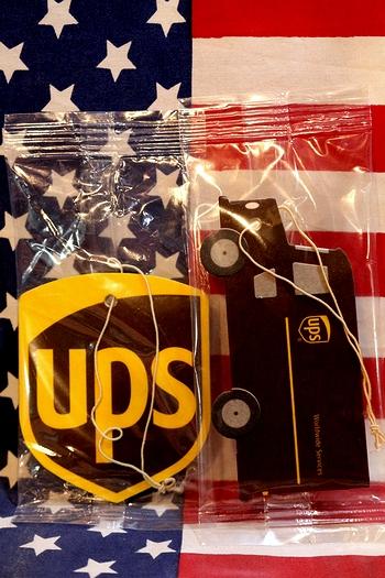 UPSエアフレッシュナー UPS芳香剤 UPSグッズ通販 アメリカ雑貨屋 サンブリッヂ アメリカ雑貨通販