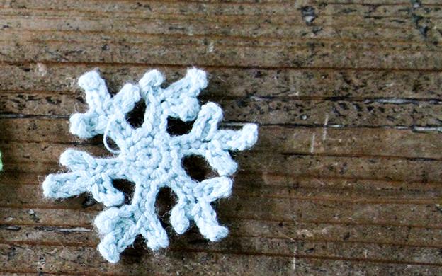 かぎ針編みモチーフ 雪 メール便可