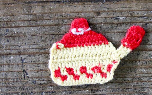 かぎ針編みモチーフ なべ メール便可