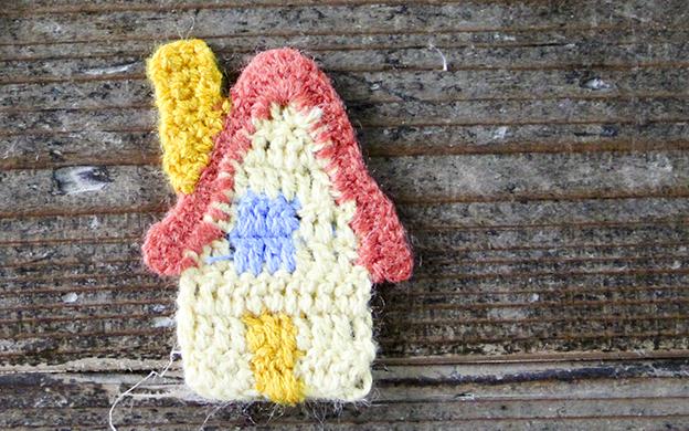 かぎ針編みモチーフ 家 メール便可