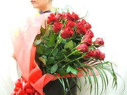 バラ花束20本赤