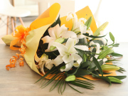 カサブランカ花 花束