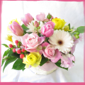 花 フラワーアレンジメント 花束 お祝いの花 誕生日 プレゼント 花 3,000円 税別