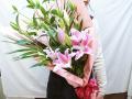 ゆりピンク花束