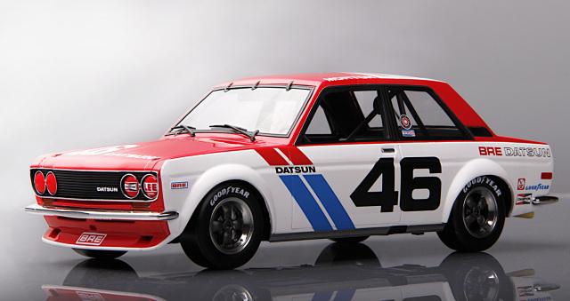 RetroMotoring 1/18 ダットサン 510 #46 ジョン・モートン SCCA トランス AM チャンピオン
