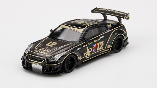 MINI GT 1/64 LB★WORKS Nissan GT-R R35 タイプ2 リアウイング バージョン 3 JPS(左ハンドル)