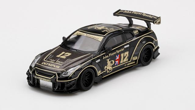 MINI GT 1/64 LB★WORKS Nissan GT-R R35 タイプ2 リアウイング バージョン 3 JPS(右ハンドル)