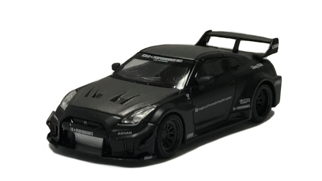MINI GT 1/64 LB-Silhouette WORKS GT Nissan 35GT-RR バージョン1 マットブラック(右ハンドル)中国限定