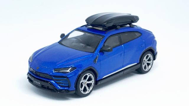 MINI GT 1/64 ランボルギーニ ウルス Blu Eleos(ブルー) w/ルーフボックス(右ハンドル)