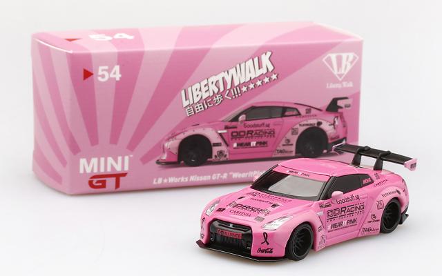 MINI GT 1/64 LB★WORKS Nissan GT-R R35 タイプ1 リアウイング バージョン 1 Wear IT Pink マレーシア限定