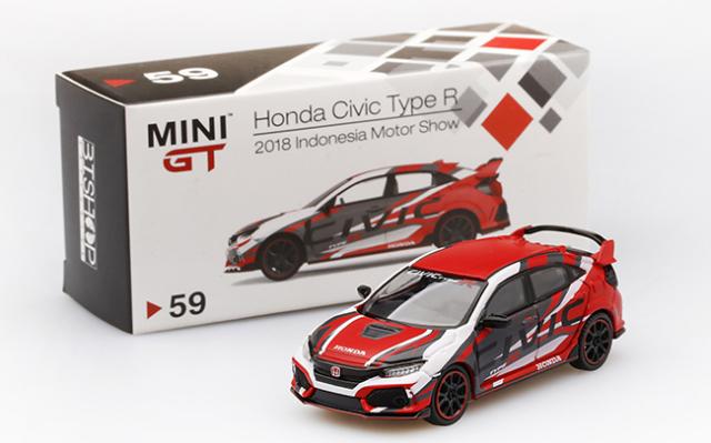 MINI GT 1/64 Honda シビック Type R 2018 インドネシア モーターショー インドネシア限定