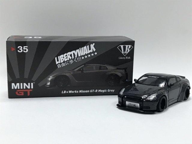 MINI GT 1/64 LB★WORKS Nissan GT-R R35 マジックグレー 中国限定