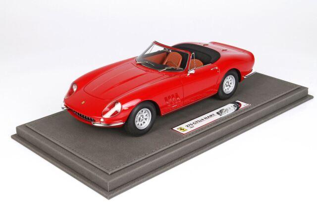 【予約】BBR 1/18 Ferrari 275 GTB Spider NART Red With Brown Color Interiors