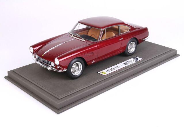 【予約】 BBR 1/18 Ferrari GT 2+2 I Series 1960 Chassis S/N 2169 Metallic Red Rubin Color(ケース付)