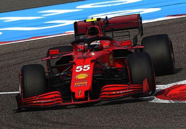 【予約】 BBR 1/18 Ferrari SF21 C. Sainz Car N.55 RED SOFT Tyres Polifoam Base*die-cast