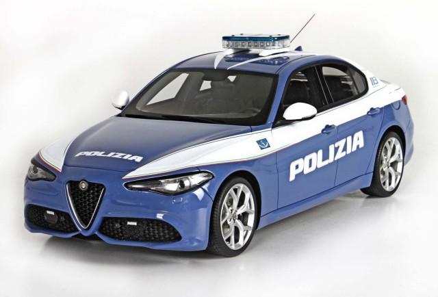 BBR 1/18 アルファ ロメオ ジュリア ベローチェ 2016 警察車両