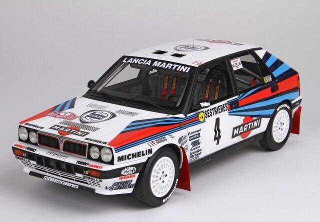 BBR 1/18 Lancia Delta HF Integrale 8V Monte Carlo Rally 1989 Biasion Siviero No. 4(ケース付)