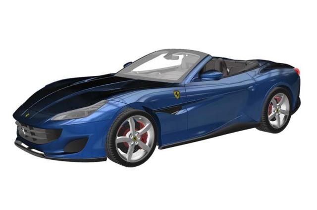 BBR 1/43 フェラーリ ポルトフィーノ (ブルー アブダビ 526)
