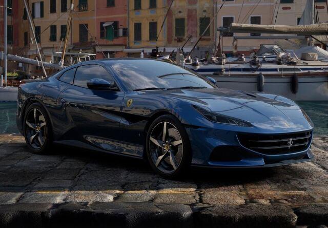 【予約】BBR 1/43 Ferrari Portofino M Spider Closed Roof Blu Abu Dhabi
