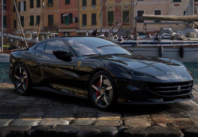 【予約】BBR 1/43 Ferrari Portofino M Spider Closed Roof New Black Daytona