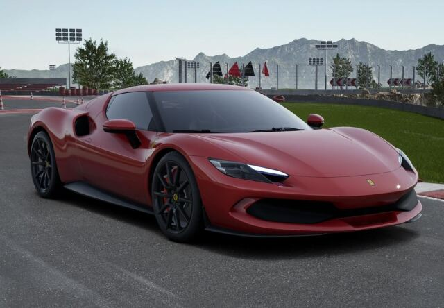 【予約】 BBR 1/43 Ferrari 296 GTB Rosso Imola Carbon Replica Wheels