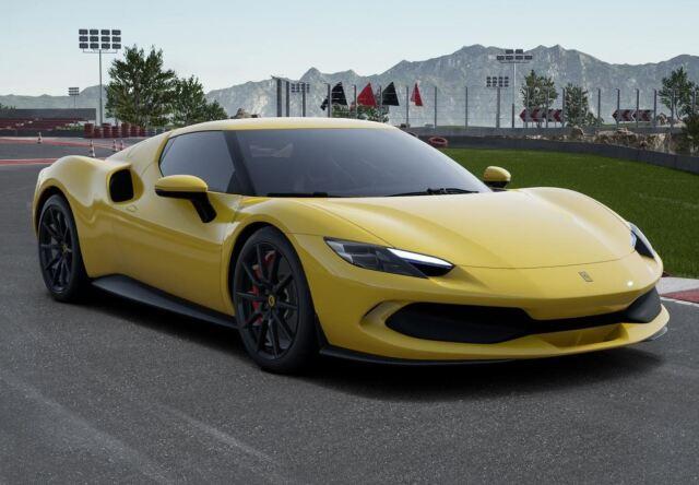 【予約】 BBR 1/43 Ferrari 296 GTB Giallo Modena Carbon Replica Wheels